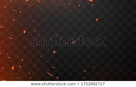 Ateşli patlama siyah can nesne yangın Stok fotoğraf © m_pavlov