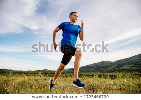 klaar · fitness · jonge · man · lopen · lichaam · venster - stockfoto © iko