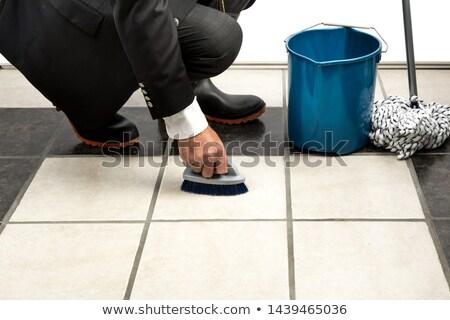 pulizia · lavoratore · imprenditore · guanto · mani · business - foto d'archivio © andreypopov
