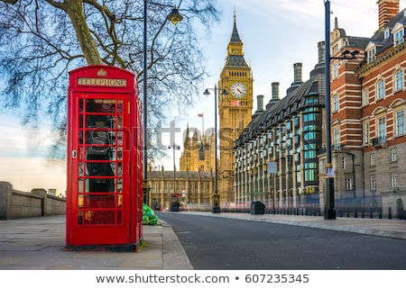 Red Telephone Booth and Big Ben in London stock photo © pab_map