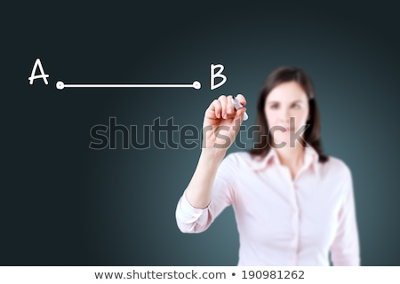 From point A to B. Businesswoman. Stock photo © REDPIXEL