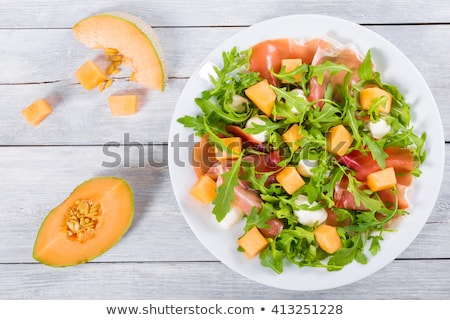 melon salad and ham Stock photo © M-studio