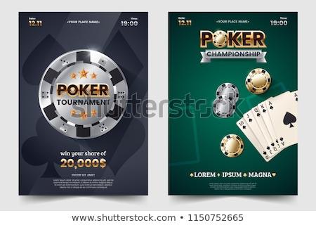 Póquer torneo juego color verde club Foto stock © OleksandrO