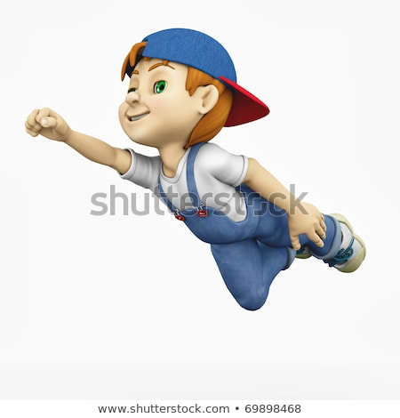 Sevimli karikatür mavi renk güç erkek Stok fotoğraf © antonbrand