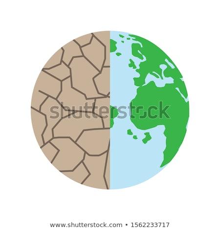 Opslaan aarde drogen boom wereldbol hand Stockfoto © rufous