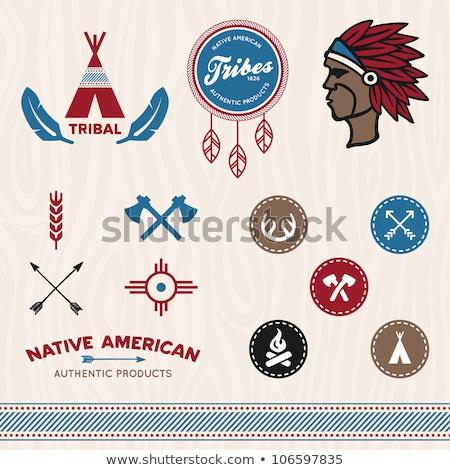 tomahawk american indians vector illustration Stock photo © konturvid