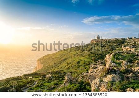 Radar állomás Málta Európa égbolt építkezés Stock fotó © Spectral