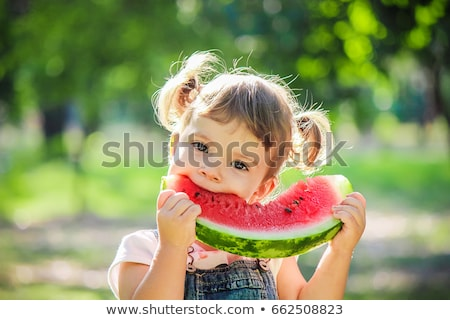 Large piece of watermelon stock photo © fresh_4870785