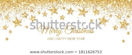 dourado · alegre · natal · estrelas · vermelho · bokeh - foto stock © adamson