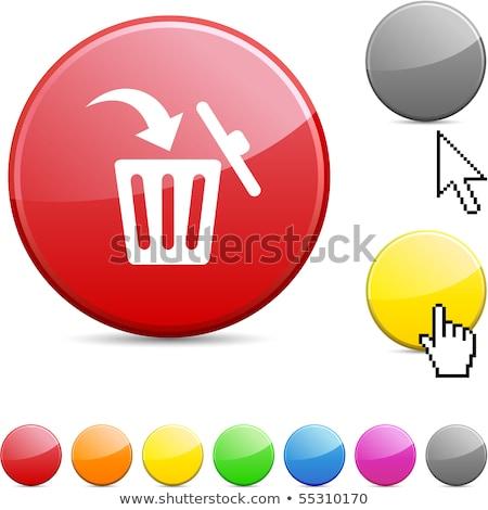 Recycle Bin Red Vector Icon Button Stock photo © rizwanali3d