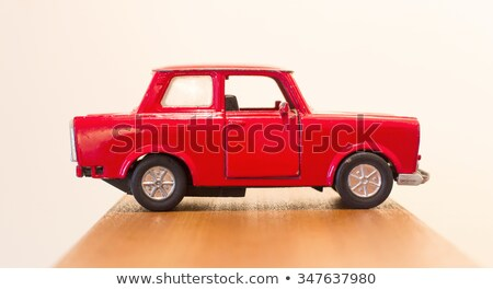 Vintage модель автомобилей изолированный белый игрушками Сток-фото © nelsonart