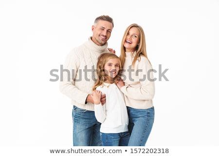 sweter · odizolowany · biały · kobieta · moda · projektu - zdjęcia stock © elnur