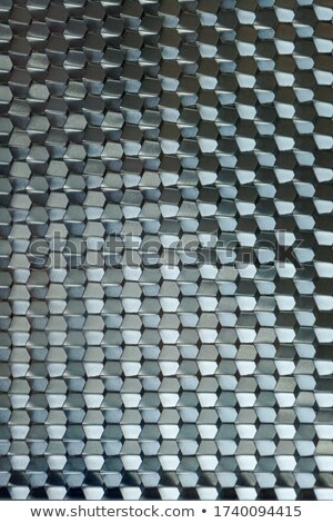 Textured black plastic wavy hexagons Stock photo © Zebra-Finch
