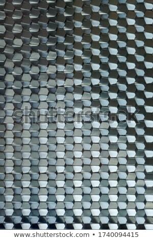 textured black plastic wavy hexagons stock photo © zebra-finch