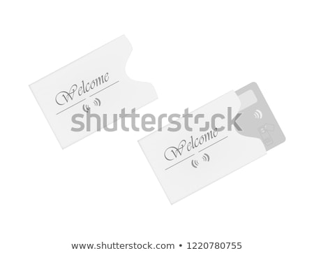 Plastic card holder Stock photo © magraphics