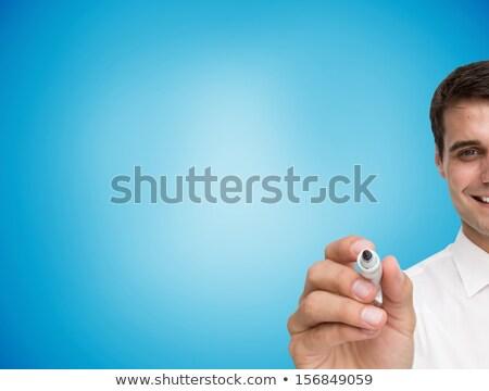 empresário · escrita · marcador · cinza · camisas · amarrar - foto stock © wavebreak_media