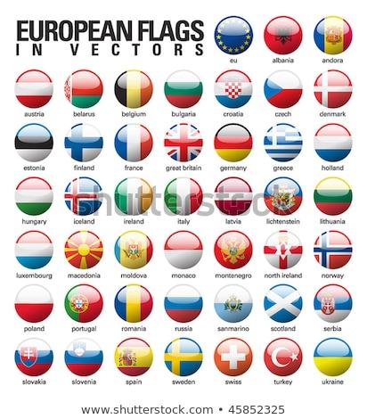 Болгария флаг кнопки дизайна Мир искусства Сток-фото © ojal