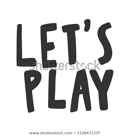 Stok fotoğraf: Oynamak · kelime · fare · klavye · bilgisayar · ahşap