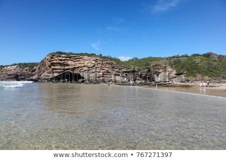 ビーチ · アンダルシア · 地域 · マラガ · 自然 · 青 - ストックフォト © jeayesy