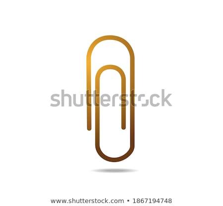 Clip dorado vector icono botón Internet Foto stock © rizwanali3d