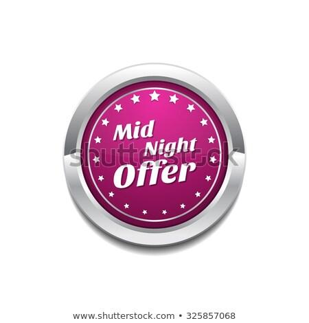 éjfél ajánlat rózsaszín vektor gomb ikon Stock fotó © rizwanali3d