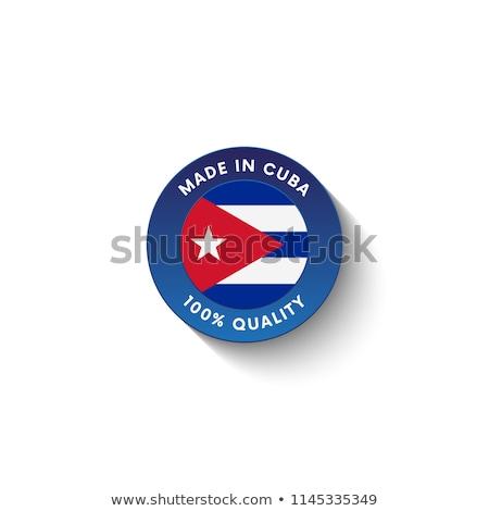 Cuba pays pavillon carte forme texte Photo stock © tony4urban