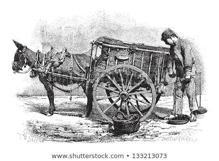 coal merchant vintage engraving stock photo © morphart