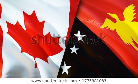 Canada and Papua New Guinea Flags Stock photo © Istanbul2009