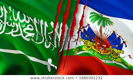 Arábia Saudita Haiti bandeiras quebra-cabeça isolado branco Foto stock © Istanbul2009