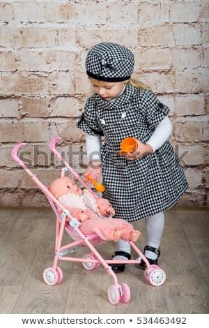 Kislány baba fuvar gyerekek haj jókedv Stock fotó © Paha_L