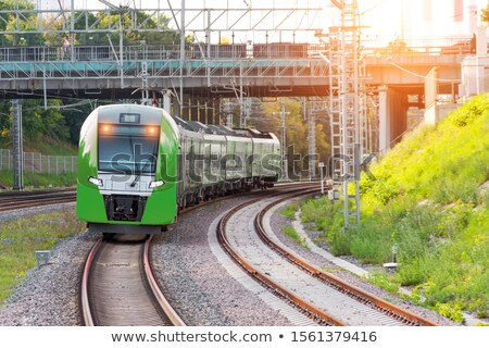 Pasaje ferrocarril líneas pared luz metro Foto stock © Paha_L