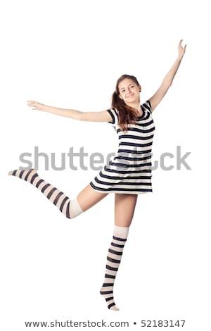 Cuerpo mujer blanco negro cebra desnuda Foto stock © master1305