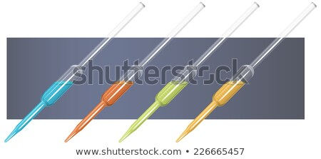 Chemistry apparatus - Glass pipet Stock photo © michaklootwijk