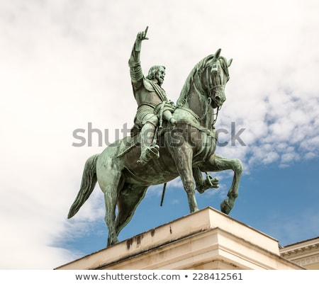 Equestrian statue of Maximilian I in Munich, built 1820 with cra Stock photo © meinzahn