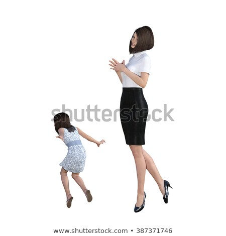 Mother Daughter Interaction Of Helping With Chores Foto stock © kentoh