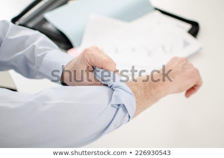 biznesmen · gotowy · pracy · działalności · strony · włosy - zdjęcia stock © zurijeta