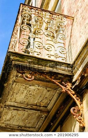 textura · velho · estuque · parede · rachaduras · construção - foto stock © photooiasson