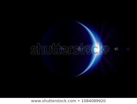 Fogyatkozás bolygó mély űr absztrakt természet Stock fotó © tracer