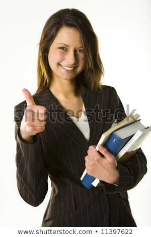 thumbs up succesful woman and smile Stock photo © Giulio_Fornasar