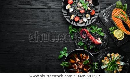 fresh seafood dish Stock photo © prill
