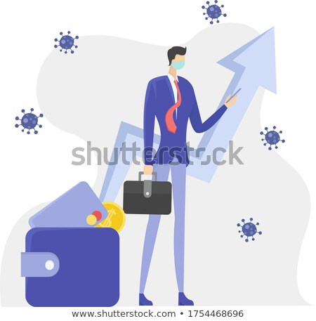 Stock photo: A faceless man beside the chart