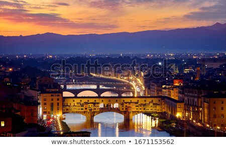 art romantic evening in Florence. Italy.  Stock photo © Konstanttin