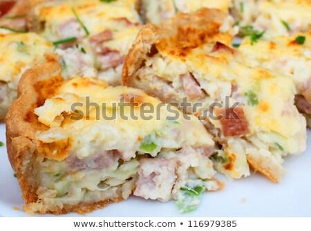 broccoli · champignon · vers · ingrediënten · ei · kaas - stockfoto © jonnysek