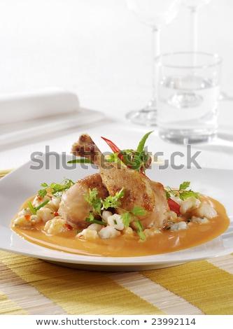 Stok fotoğraf: Tavuk · kızartma · bacaklar · krem · sos · gıda