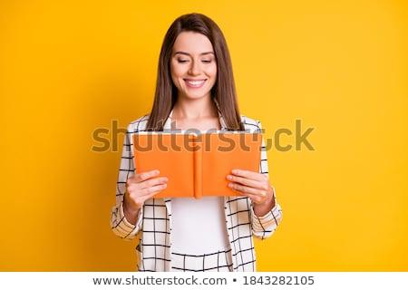 abrir · vermelho · livro · branco · papel · estudante - foto stock © adam121