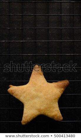 Single Star Shaped Biscuit on Cooling Rack Stock photo © frannyanne