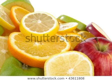 Czerwony grejpfrut pomarańczowy cytryny plastry Zdjęcia stock © ozgur