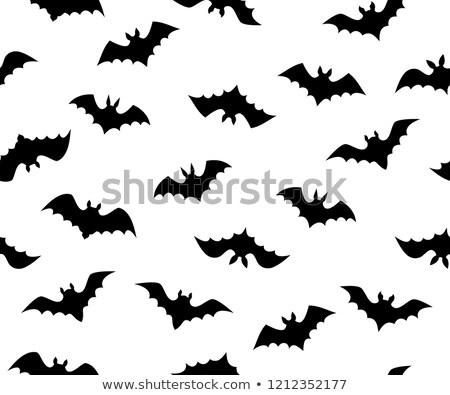 Isolated seamless flying bats pattern on white Stock photo © jiaking1
