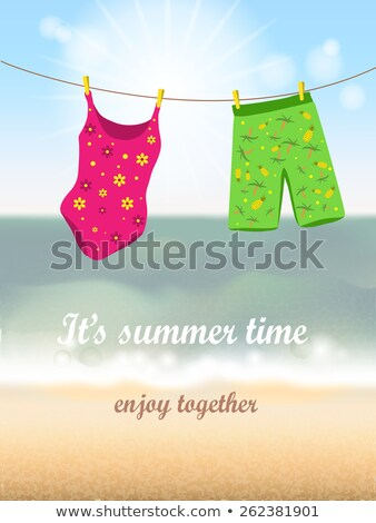 Woman Swimsuit Hanging On Rope Stock photo © AndreyPopov