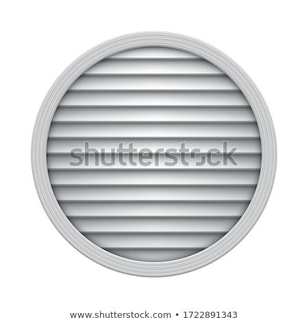 Kloáka borító levegő fehér ventillátor kör Stock fotó © magraphics